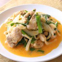 鶏もも肉とニラのコチュマヨ炒め