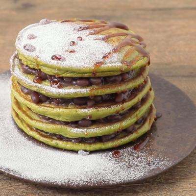 抹茶香る 白玉粉入りもちもちパンケーキ