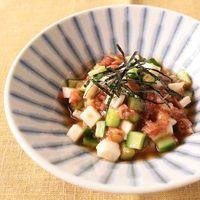 長芋ときゅうりの梅肉和え