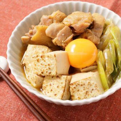 鶏もも肉の節約すき焼き風煮
