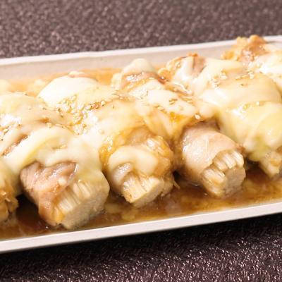 甘味噌絡む えのきのとろーりチーズ肉巻き