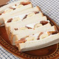 柿とバナナのフレッシュサンドイッチ