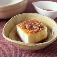 さっぱり梅ポン酢の湯豆腐