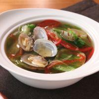 アサリとレタスの中華風スープ