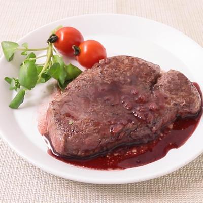 赤ワインソースで 牛ヒレ肉のステーキ