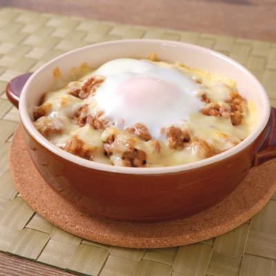 卵とろーり 納豆カレードリア
