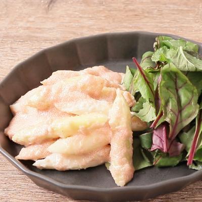 ホワイトアスパラガスと明太子のサラダ