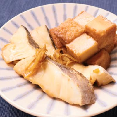 生姜香る 鱈と厚揚げの煮付け