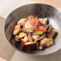 鶏もも肉と根菜の炒め物