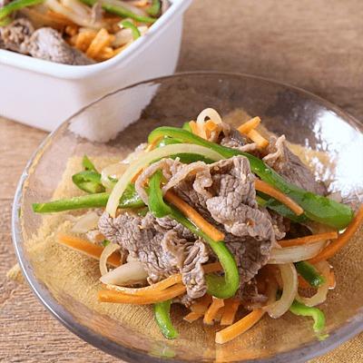 常備菜に 牛肉と玉ねぎのポン酢マリネ
