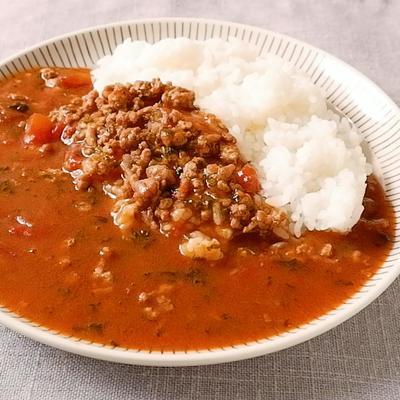 パセリとひき肉のカレー
