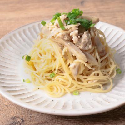 ごぼうと鶏ひき肉の味噌スパゲティ