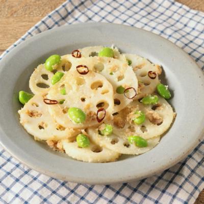 レンコンと枝豆の洋風きんぴら