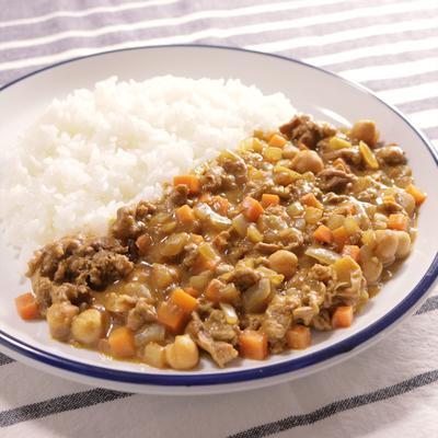 ラム肉とひよこ豆のカレー