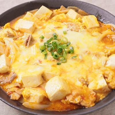 とろーりチーズとふわとろ卵の麻婆豆腐