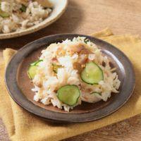 かますの干物ときゅうりの混ぜ寿司