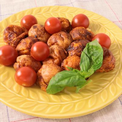 トマトとバジルで イタリアンたこ焼き