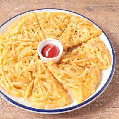 揚げない バジルチーズのハッシュドポテト風