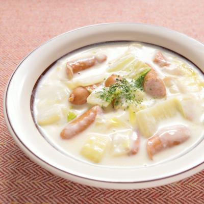 チーズたっぷり白菜とウインナーのクリーム煮