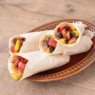 彩り野菜のカポナータトルティーヤ