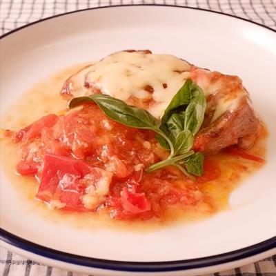 10分で簡単 鶏もも肉のトマトチーズソテー