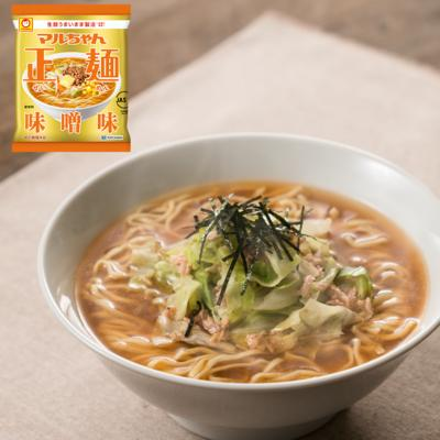 キャベツたっぷり野菜ツナ正麺(味噌味)