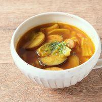 キャベツとナスのカレースープ