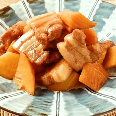 豚バラ肉とたけのこの甘辛煮