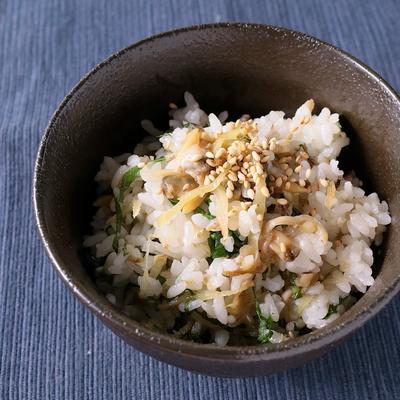 新生姜とあさりの混ぜご飯
