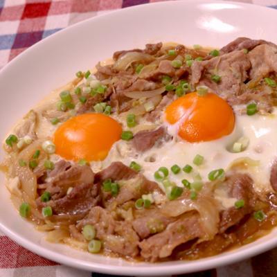 焼肉のタレで簡単キャベツの卵おとし