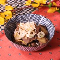 ごぼう入りの砂肝の生姜煮
