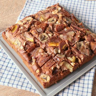 秋のフルーツたっぷり チョコヨーグルトケーキ