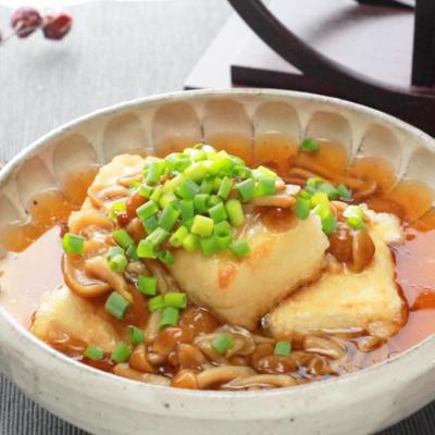 たっぷりなめこの揚げだし豆腐