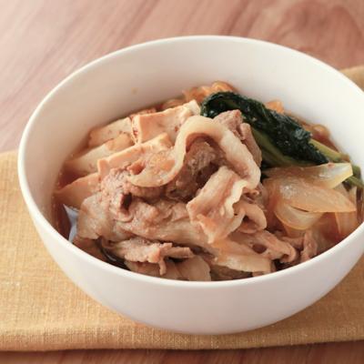 豚こま肉で簡単すき焼き風煮込み