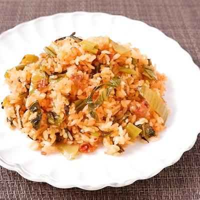 高菜とチャンジャのチャーハン