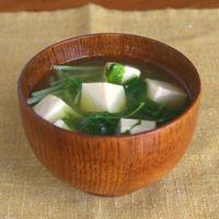 シャキシャキ水菜のお味噌汁