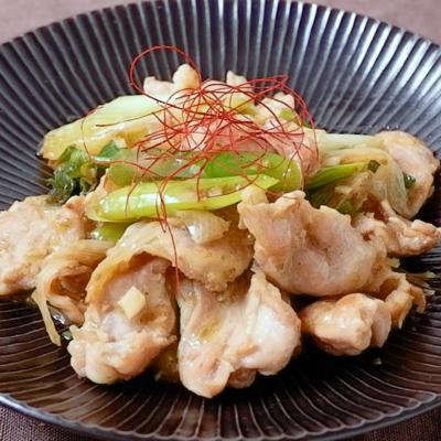 鶏ハラミの柚子胡椒炒め