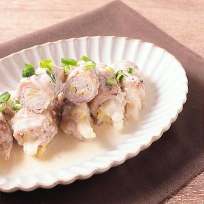 白菜の豚バラ巻き 生クリーム煮