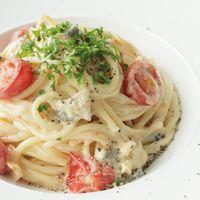 濃厚ブルーチーズとトマトのスパゲティ