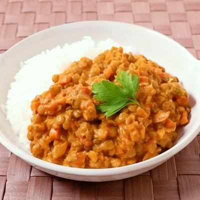 レンズ豆のココナッツカレー