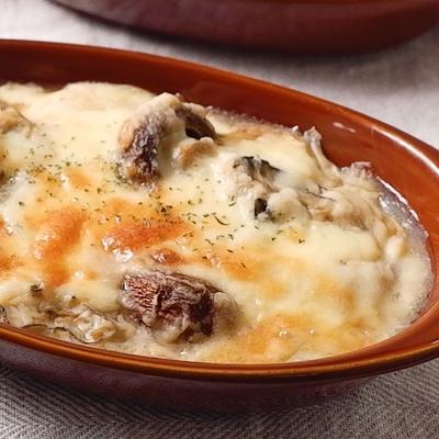 米粉と豆乳で作るホワイトソース牡蠣グラタン