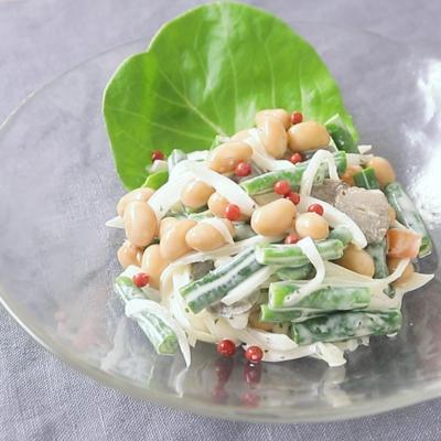 五目煮豆リメイク 豆サラダ