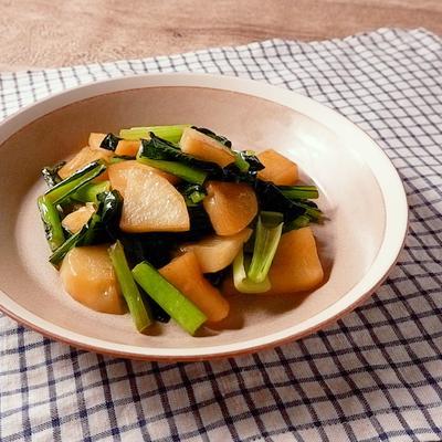 小松菜とじゃがいものバター炒め