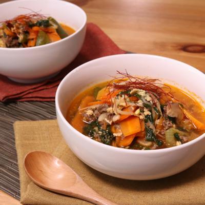 焼肉のタレで作る!ユッケジャンスープ