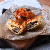 マフィン型でつくる栗とチェダーチーズのキッシュ
