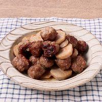 里芋と大葉肉団子の炒め物