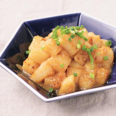 長芋の柚子味噌炒め