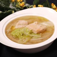 プチ石狩鍋!鮭の味噌バタースープ