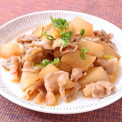 大根と豚バラ肉のピリ辛炒め
