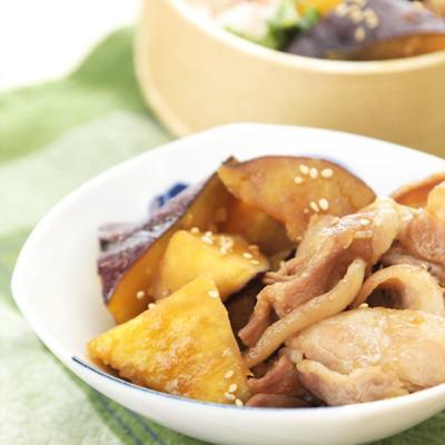 豚バラ肉とさつまいもの甘辛煮